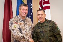Встреча Командира НВС с Командиром корпуса НАТО