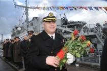 Смена командира Морских сил Латвии