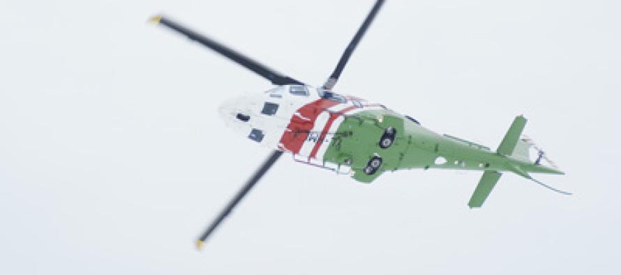 Пограничный вертолёт нашел пропавшую в лесу женщину