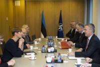 Генсекретарь НАТО встретился с президентом Эстонии
