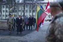 Президент Эстонии посетила Адажскую базу