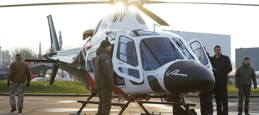 Новые вертолёты и катера для Пограничной охраны Латвии