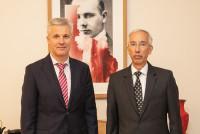 Встреча Министра обороны Латвии с послом США